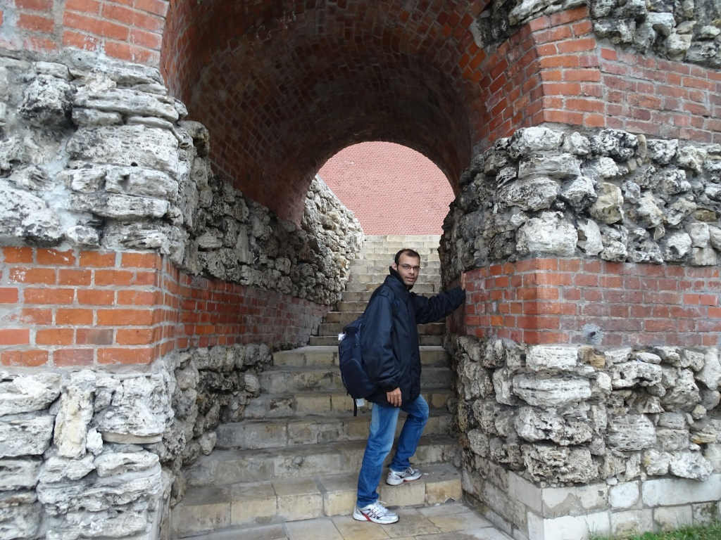 Climbing The Old Kremlin Wall. Moscow